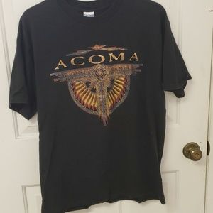 ACOMA TEE SHIRT LARGE BLACK WITH COPPER AND RED